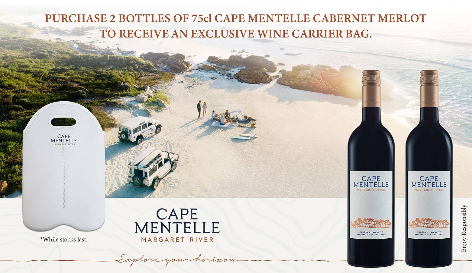 Cape Mentelle Twin Bottle foc Wine Carrier Bag